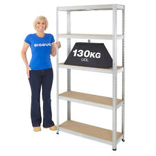 Galvanised Stockroom Garage Shelving - 130kg Capacity