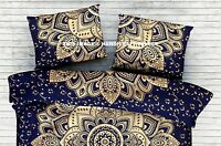 Gold Ombre Mandala Cotton Pillow Case Pillow Sham Indian Couch Sofa Decor Pillow