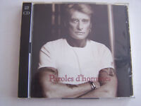 CD JOHNNY HALLYDAY , PAROLES D ' HOMMES , 2 CD POUR 21 TITRES  . TRES BON ETAT .
