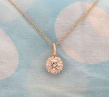 Rose Gold Natural SI1 Fine Diamond Necklaces & Pendants