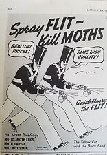 1938 Flit insecticide yellow spray can kill moths ad