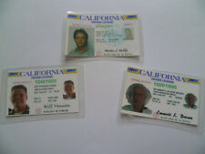 Set Of 3 Novelty Back To The Future ID's- Marty Mcfly, Doc Brown and Biff Tannen