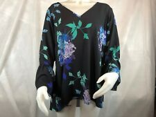City Chic Women's Plus Floral Print Bell Sleeves Blouse Top Size 16w A2
