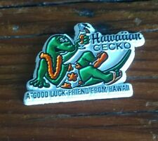 """Hawaiian Gecko Rubber Fridge Magnet """"A Good Luck Friend From Hawaii"""""""