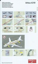 Safety Card - Swiss International Air Lines - A319 - c2004 (S4235)