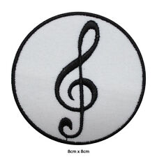 Music Symbol Logo Band Embroidered Patch Iron on Sew On Badge For Clothes etc
