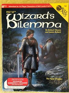 FEZ VI Wizard's Dilemma Role Aids Advanced Dungeons & Dragons by Robert Moore