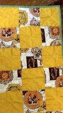 Vintage Handmade Patchwork Kids Quilt Toy VTG Americana Folk Art Throw Blanket