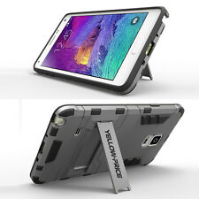 For Galaxy Note 4 Case Hybrid ShockProof Stand Cover Back Soft Bumper