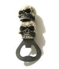 Bottle Opener Stack of Skulls Skeleton Halloween Gothic Barware Death Accessory
