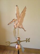 Good Directions Polished Copper 2D Graceful Blue Heron Weathervane - 1971P w/Rm