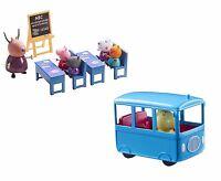 Peppa Pig de Mini Autobús Escolar & Aula Lote Parque Infantil Juguete Edad 3+