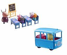 Peppa Pig Peppa's Mini School Bus & Aula Paquete Playset Juguete edad 3+