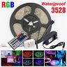 RGB 3528 LED Strip Light 12V 60leds/m Flexible tape rope Light 5M Waterproof