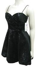 NWT Hailey Logan Black Sequin Party Dress $128 Women Juniors 5/6 Adrianna Papell