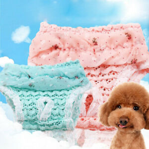 Pet Dog Lace Physiological Pants Diaper Panties Female Puppy Washable Underwear