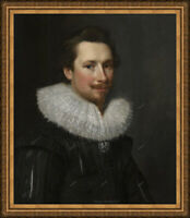 Old Master Art Antique Man Portrait Michiel Jansz Oil Painting Unframed 24x30