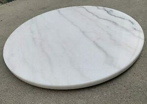 """20"""" Round White Marble Lazy Susan Turntable Tray 1711"""