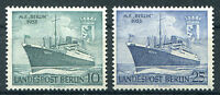 Berlin Nr. 126 - 127 sauber postfrisch Taufe des Motorschiffes Berlin 1955 MNH