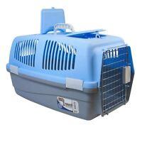 Large Pet Travel Carrier Dog Cat Rabbit Basket Plastic Handle Box Crate Cage