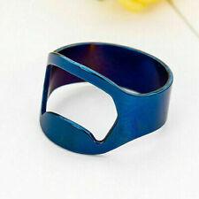 1Pc Stainless Steel Beer Bottle Opener Finger Ring Bar Bottle Opener 23mm Blue