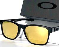 830f8dd0340e9 NEW  Oakley Catalyst Black Frame w 24K GOLD Fire Iridium lens Sunglass  9272-04