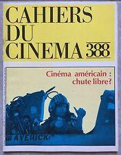 Magazine CAHIERS DU CINEMA n°388 Cinéma Américain TOP GUN Tom Cruise 1986