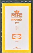 Prinz Stamp Mount 131/265 BLACK Background Pack of 5