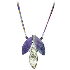 High Quality Natural Rock Amethyst Quartz and Sterling Silver Necklace