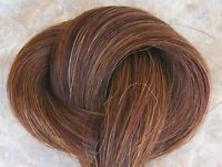Bulk HORSEHAIR, Chestnut brown, horse hair jewelry, crafts| tail HAIR,  1 ounce