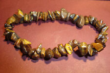 Peruvian Handmade Gemstone Chunky Chip Bracelet~Tigers Eye~CB29~uk seller~