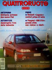 Quattroruote 461 1994 Prove Renault Laguna. Peugeot 306 S16 sfida Alfa [Q92]