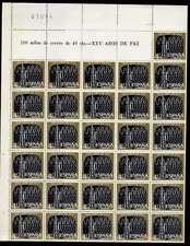 España 1964 25 años de paz 40c Perfecto... Hoja Completa