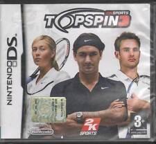 Top Spin 3 Videogioco Nintendo DS NDS Nuovo Sigillato 5026555042543