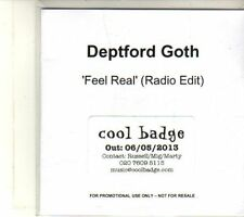 (DT398) Deptford Goth, Feel Real - 2013 DJ CD