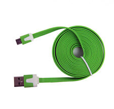 2 Meter USB Flachbandkabel Ladekabel Samsung S2 S3 S4 Chat T335 Corby Note grün