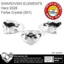 5 SWAROVSKI ELEMENTS Hotfix, 2808 Herz, 6 mm, Crystal (Strasssteine z. Aufbügel)
