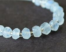 RAINBOW MOONSTONE BEADS FACETED RONDELLE 4 - 4.5 MM 17 PCS LOOSE BEADS #D5919