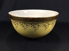 "Vintage Hall's Kitchenware 1378 Porcelain 8.5"" Bowl Gold Yellow Floral Design"