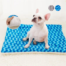 Reversible Fleece Pet Cat Dog Crate Bed Mat with Cute Paw Print Machine Washable