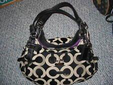 COACH Black Gray Signature Tote A1273-17689 Purse Handbag Bag