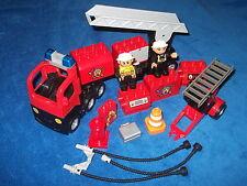LEGO DUPLO VILLE FEUERWEHRLEITERWAGEN LÖSCHZUG EINSATZWAGEN + RIESIGES ZUBEHÖR