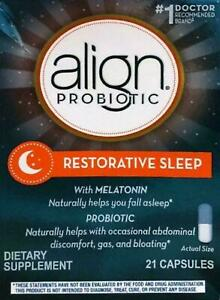 Align Probiotic Digestive Restorative Sleep 21 Capsules. 12/2021 #8781