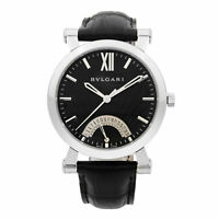 Bvlgari Sotirio Retrograde Steel Black Dial Automatic Mens Watch SB42SDR