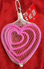 "Kitchen Pink Edge Cookie Cutters 4 PACK HEART SHAPED 1.5 - 4.5"" Fondant Nesting"