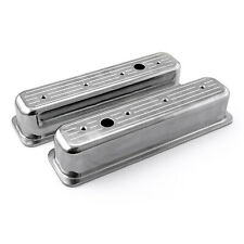 Chevy Sbc 350 Center Bolt Polished Aluminum Ball Milled Valve Covers Tall Withhole