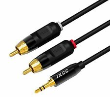 iXCC 3.5mm Auxiliary to 2RCA Audio Adapter Stereo Cable Y Splitter Male Plug New