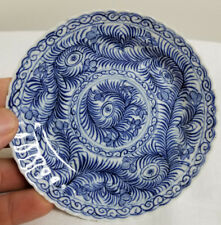 Antique Chinese Underglaze Blue and White Porcelain Tea Saucer Plate Dish Kangxi