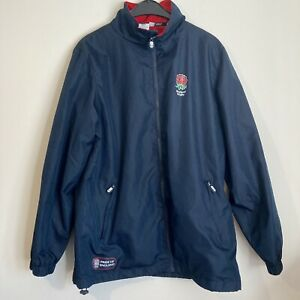 Official England Rugby Union Navy Blue Jacket Mens Size Medium