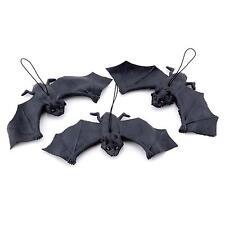 Black Hanging Rubber Vampire Bat Toy Prop Halloween Party DIY Decor Trick Toy